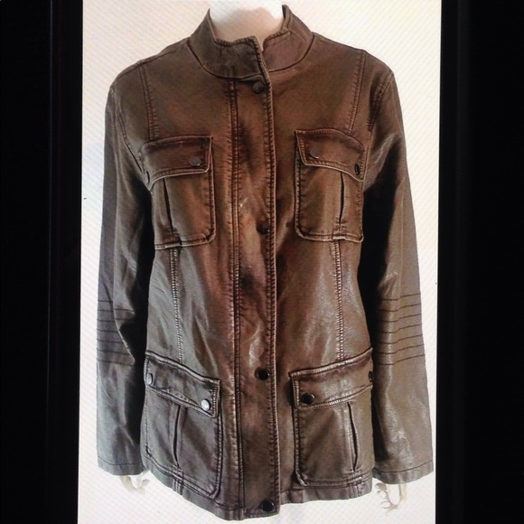 3459d00181b43 Alfani Jackets   Blazers - Alfani Plus Size Faux Leather Lined Moto Jacket